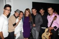 Pictured at the Billboard Latin Music Conference are Chino; Nacho; BMI's Delia Orjuela; Jenni Rivera; Horacio Palencia; Gocho; and Benny Camacho.