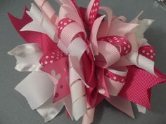 Instructions for making funky, loopy bows.