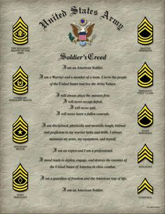 Image detail for -United States Army Soldiers Creed Military Mom, Army Mom, Army Life, Military Deployment, Us Navy, Soldiers Creed, Army Values, War Novels, Army Infantry