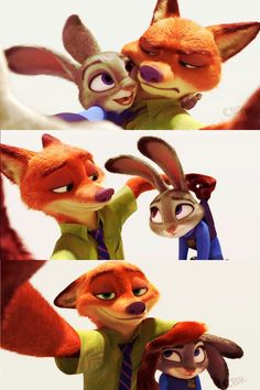 Judy: You see now Nick. I don't know when to quit! Nick: You sly bunny. Okey but I chose the pose. Judy: Slick Nick. (You can only understood if you a zootopia fan.)