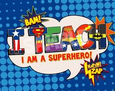 I Teach Superhero Digital File. Superhero GiftsSuperhero TeacherSuperhero SchoolSuperhero IdeasSuperhero ...