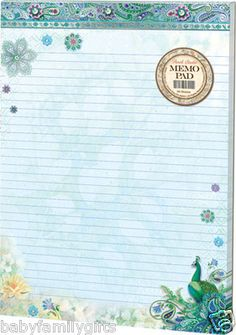 Punch Studio 2013 Home Office: Embellished Memo Pads-Paisley Peacock 46301