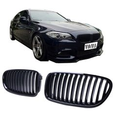 63.99$  Buy here - http://aiusr.worlditems.win/all/product.php?id=32558014888 - Gloss Black Kidney Grills Front Grille For BMW F10 Sedan F11 Touring 2011 - 2016 #9219