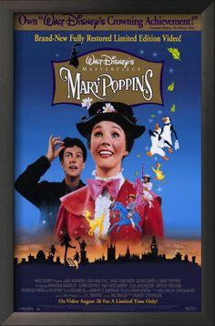 Mary Poppins Framed Art Print at AllPosters.com