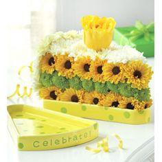 Торт из хризантем № 7002
