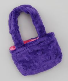 Take a look at this Purple & Pink Minky Reversible Doll Tote by FAT RAT on #zulily today!