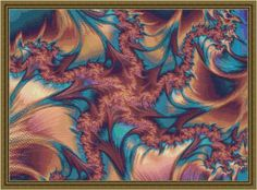 Coral Lagoon Fractal Cross Stitch - via @Craftsy