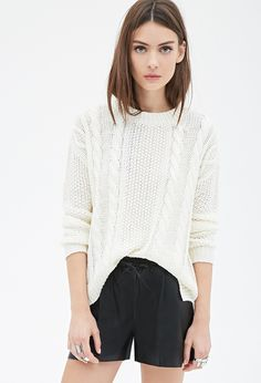 Cable Knit Sweater via Sporty Chic, Cable Knit Sweaters, Who What Wear, Latest Trends, Winter Fashion, Forever 21, Fashion Outfits, Clothes For Women, Knitting