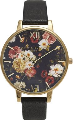 528b241fb28 OLIVIA BURTON Winter Garden yellow gold-plated watch Cute Watches