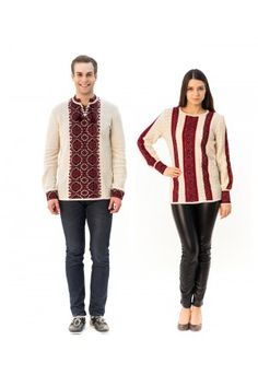 Сімейний комплект «Подніпров'я» складається з жіночої та чоловічої в'язаних вишиванок. Sweaters, Fashion, Moda, Fashion Styles, Sweater, Fashion Illustrations, Sweatshirts, Pullover Sweaters, Pullover