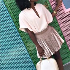 """Pink Tunic/ dress Powder pink, tunic/dress from American Apparel. Dress fits very loose & should be worn with belt for a more """"fitted look"""" as shown in picture. Size is M/L American Apparel Tops Tunics"""