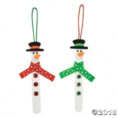 This Craft Stick Snowman Ornament Craft Kit is the perfect Christmas craft for kids! Your little elves will love building their very own ornaments to spruce . Christmas Ornament Crafts, Christmas Crafts For Kids, Craft Stick Crafts, Craft Kits, Preschool Crafts, Holiday Crafts, Fun Crafts, Christmas Decorations, Snowman Ornaments