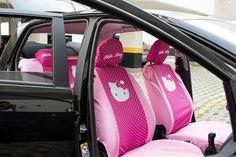 CAPA PARA BANCO DE CARRO ROSA HELLO KITTY - Acessórios para Carro Feminino