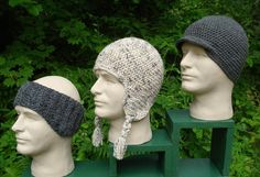 Snow sports caps for men pm 101 a crochet pattern from nancy brown