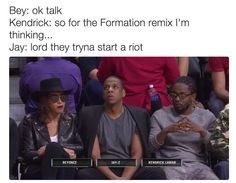 Jay-Z and Kendrick Funny Facts, Funny Quotes, Funny Memes, Jokes, It's Funny, Fact Quotes, Funny Laugh, Beyonce Memes, Beyonce And Jay Z