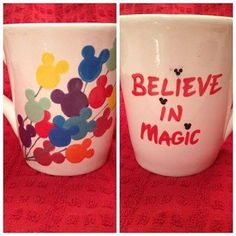 Disney painted ceramic mug.