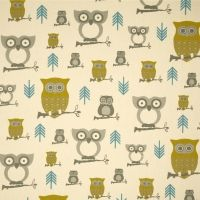 Premier Prints Hooty Owl Summerland/Natural Fabric by The Yard Harry Potter, Owl Fabric, Premier Prints, Textiles, Owl Print, Coordinating Fabrics, Home Decor Fabric, Wall Design, Fabric Design