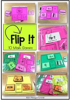 flip it 10 math games first grade, second grade, third grade