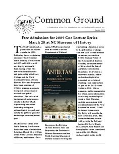Common Ground (PDF) - The Coe Foundation for Archaeological .: Common Ground (PDF) - The Coe Foundation for Archaeological . Piedmont Region, Common Ground, Free Admission, North Carolina, Foundation, Pdf, Reading, Foundation Series
