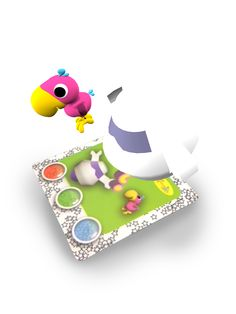 AR characters: Birdie & Robie Augmented Reality interactive card from Amagicland. 3D animations, sound & music. www.amagicland.com