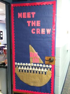 Nautical Classroom: Door. This could be really precious with their actual faces.