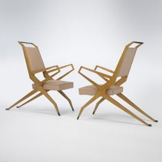 Franco Campo and Carlo Graffi Attributed, Armchairs, c1955.
