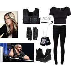 A fashion look from November 2013 featuring short sleeve shirts, high rise jeans and platform shoes. Browse and shop related looks. Wwe Outfits, Seth Rollins, Outfit Ideas, Goals, Inspired, Shoe Bag, Ring, How To Wear, Collection