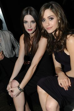 Ashley Greene and Emmy Rossum Front Row at Donna Karan