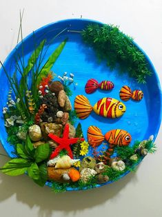 Stone art of Fussoli - Styles Crafts Sea Crafts, Seashell Crafts, Diy And Crafts, Crafts For Kids, Arts And Crafts, Paper Crafts, Stone Crafts, Rock Crafts, Diy Y Manualidades
