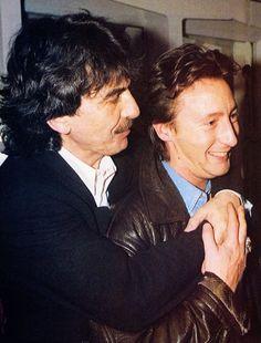 George Harrison and Julian Lennon
