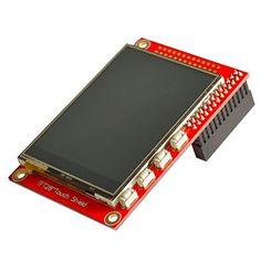 """2.8 """"TFT 320 x 240p pekskärm modul för raspberry pi b + / b - röd – SEK Kr. 265"""
