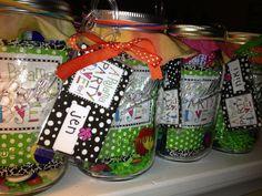 Mason jars as goodie bags