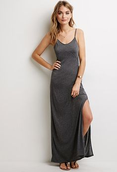 Side-Slit Maxi Dress | LOVE21