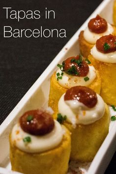There is so much great food in Barcelona Spain, but eating tapas with friends is the most fun.