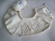 my gauge is correct x at with needles but the cardi is huge cardi width = : it's a french months size, not a months ! pattern needs a lace chart… I drew it. Baby Knitting Patterns Free Newborn, Knitting For Kids, Knitted Baby Cardigan, Knitted Baby Clothes, Lace Knitting, Knit Crochet, Baby Staff, Knitting Videos, Crochet Fashion