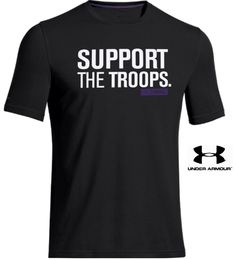 Under Armour Freedom SUPPORT THE TROOPS. I WILL T-Shirt - UA Military Tee Shirt