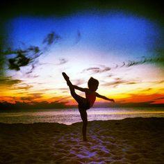 Sunset gymnastics.