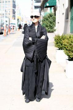 Buddhist monk inspired street wear, black robes