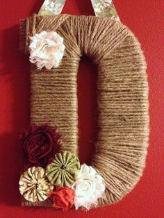 twine letter wreath