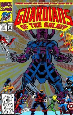 Comic Book Critic - Google+ - Guardians of the Galaxy #25 (Jun '92) cover by Jim Valentino & Hilary Barta.