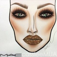 Smoke up your holiday look with spice and sass face chart by the talented MAC Makeup illustrations ♦F&I♦ Makeup Inspo, Makeup Inspiration, Beauty Makeup, Eye Makeup, Beauty Tips, Mac Looks, Mac Makeup Looks, Mac Face Charts, Makeup Illustration
