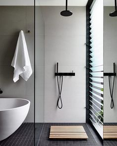 The light and airy bathroom at #houseforjade #architecture #interiordesign…