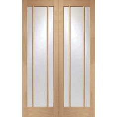 Blenheim 3 Panel Glazed Rebated Oak Internal Double Doors - 1524mm Wide