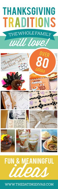 This is a fabulous round-up of awesome Thanksgiving traditions. I am adding a few of these to my celebrations this year. www.TheDatingDivas.com