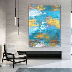 Large Abstract Painting-Original Painting Dine Room Wall Art image 0 Large Artwork, Colorful Artwork, Extra Large Wall Art, Colorful Paintings, Large Painting, Contemporary Paintings, Modern Wall Decor, Modern Art, Office Wall Art