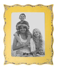 Take a look at this Yellow Distressed 8'' x 10'' Picture Frame by VIP International on #zulily today!