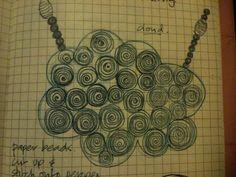 Melinda Young - sketch for Cloud Neckpiece