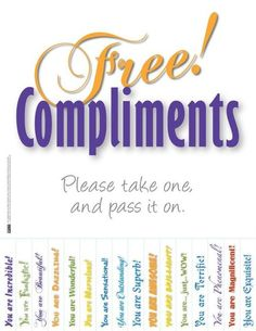 Give a compliment on National Compliment Day - eUKhost Official Web Hosting Forum Employee Morale, Staff Morale, 365 Jar, Employee Appreciation Gifts, Volunteer Appreciation, Staff Motivation, Morale Boosters, Employee Recognition, Recognition Ideas