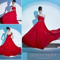 レッド系の妖艶なロングドレス♪ - ロングドレス・パーティードレスはGN|演奏会や結婚式に大活躍!