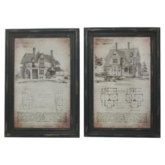 Blueprint Framed Print (Set of 2) - The Handsome Home on Joss & Main